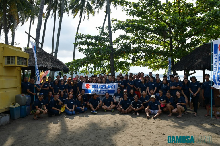 "Suzuki Marine Philippines along with the Volunteers for the ""Clean Up The World"" Coastal Clean Up Drive"