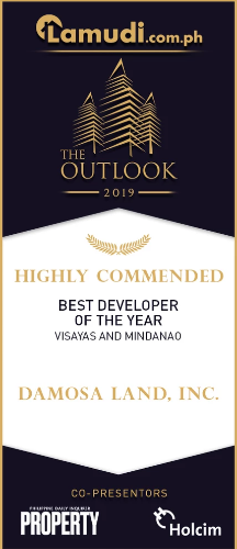 The Outlook 2019 by Lamudi Philippines Award's NightDamosa Land Inc recognized as the Highly Commended Developer of the Year for Visayas and Mindanao